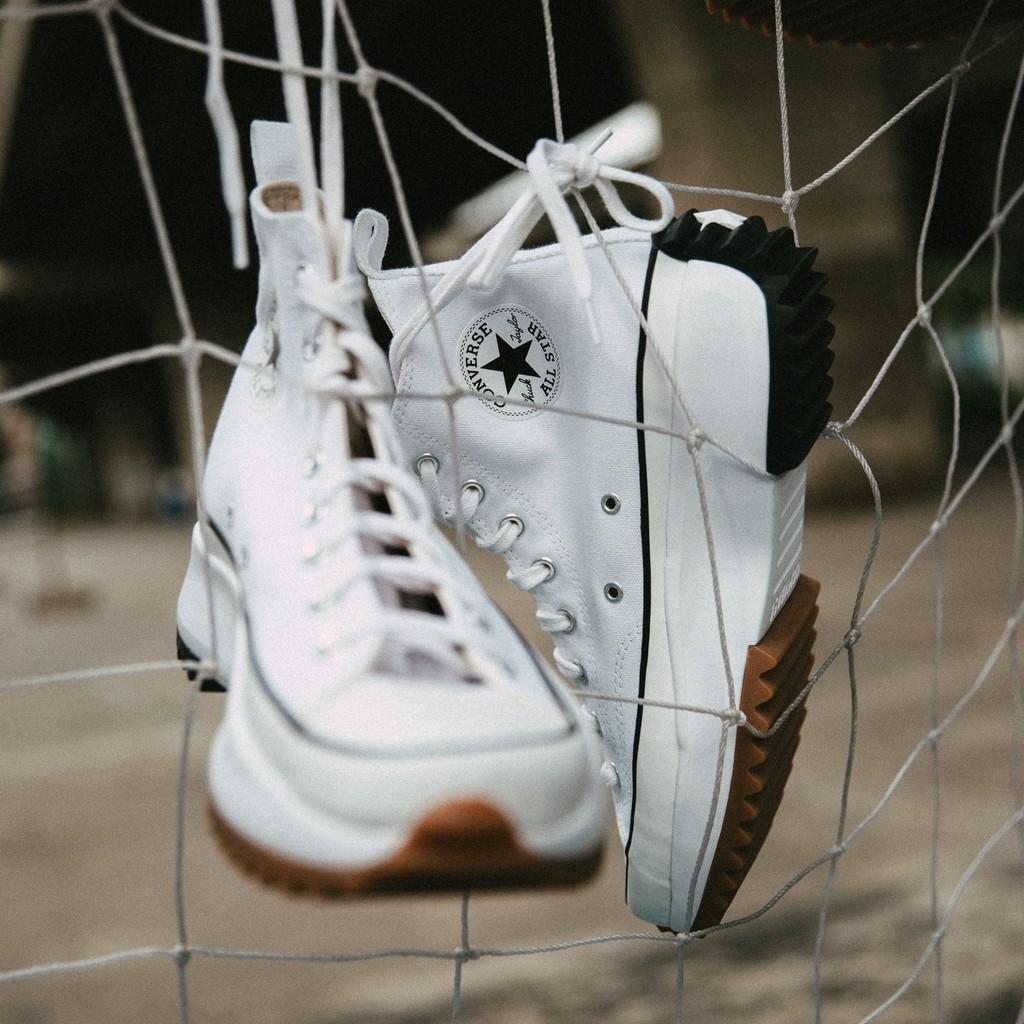 รองเท้า CONVERSE RUN STAR HIKE HI (White / Black) ของแท้ ของใหม่ พร้อมส่ง