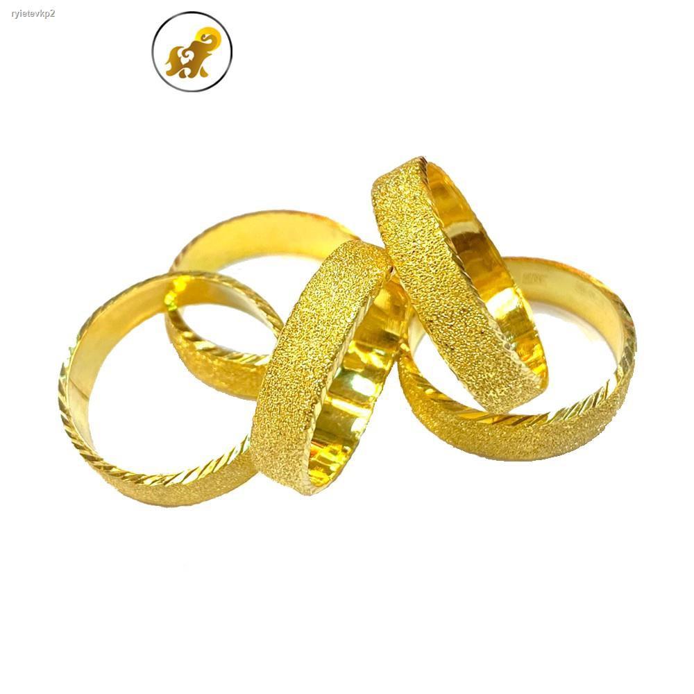 ราคาต่ำสุด▫❦▼Flash Sale แหวนทองครึ่งสลึง ทรายแก้ว หนัก 1.9 กรัม ทองคำแท้ 96.5% มีใบรับประกัน