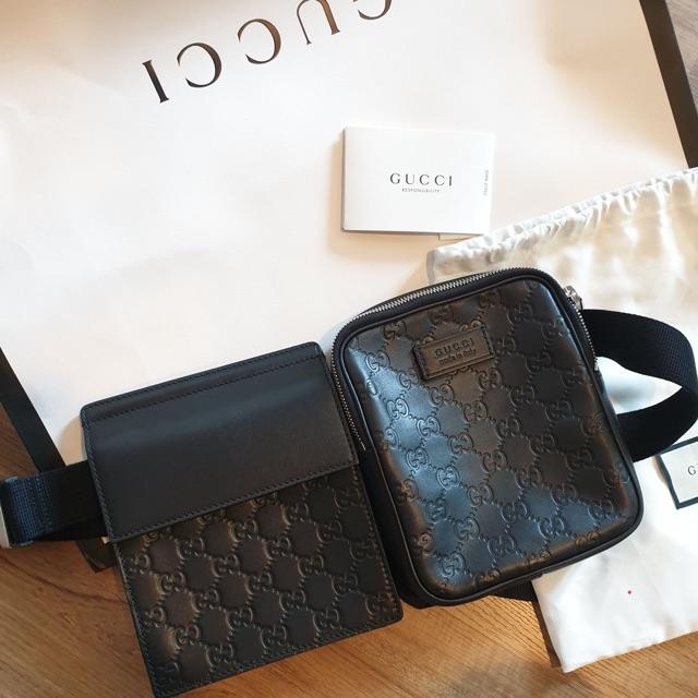 Gucci Signature belt bag ของแท้
