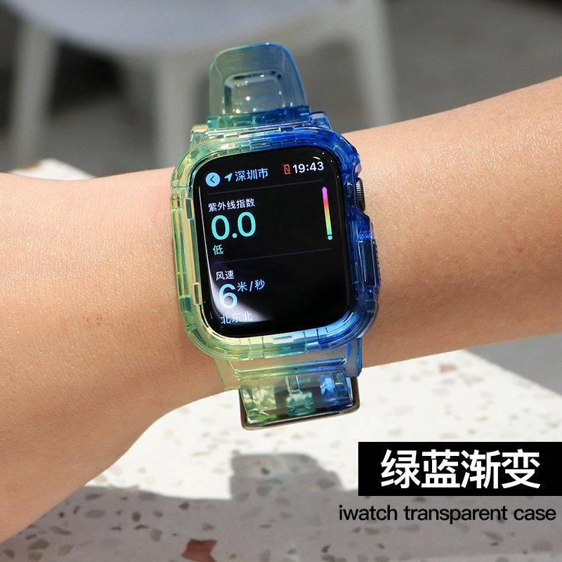💥 สาย applewatch 🔥 เหมาะสำหรับ Applewatch ซิลิโคนใสในตัวสายรัด Apple Watch iwatch1 / 2 / 345se6