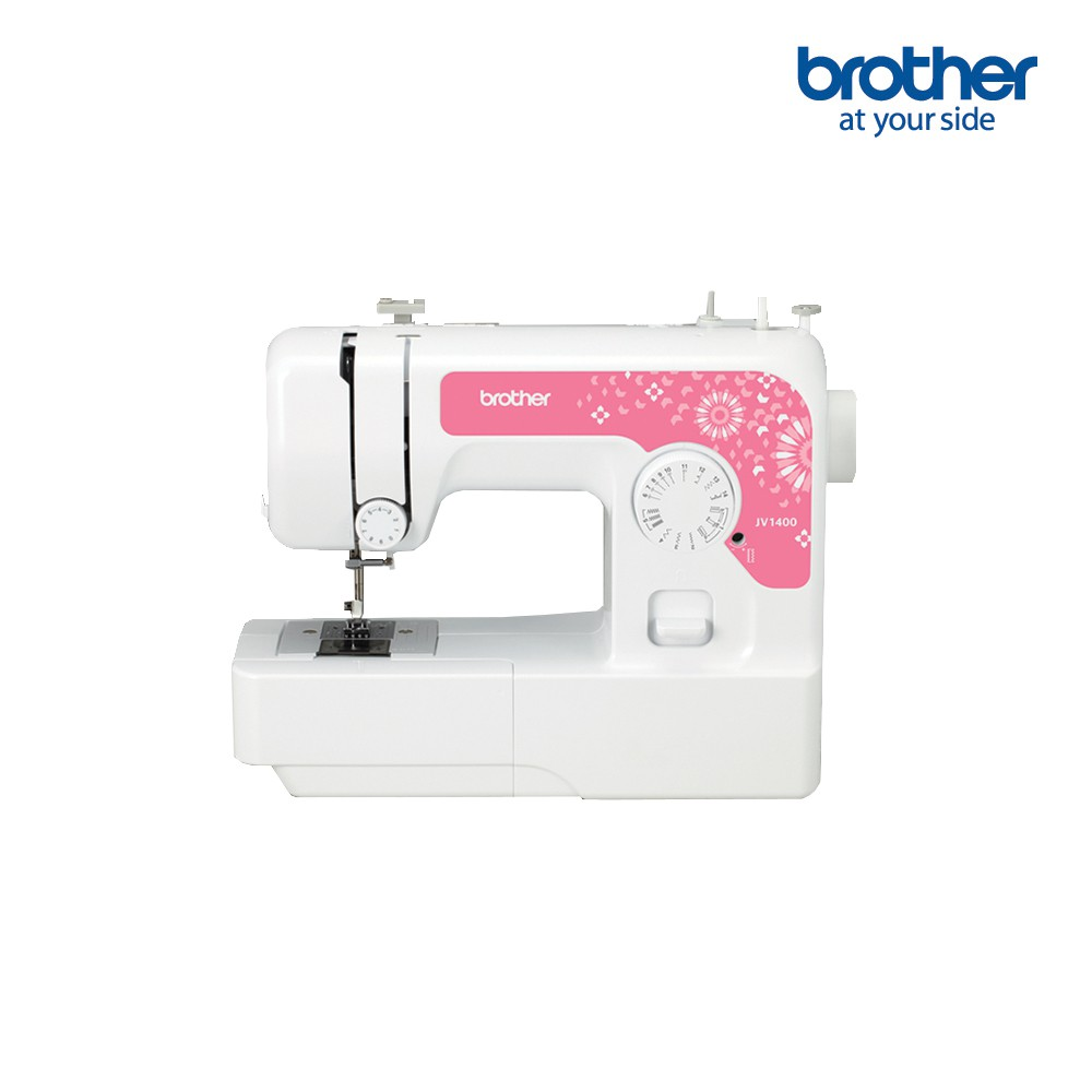 BROTHER Sewing Machine JV1400 จักรเย็บผ้าไฟฟ้า, จักรเย็บผ้าแบบพกพา, เย็บผ้าปิดจมูก, เสื้อผ้า, 14 ลาย, รับประกัน 1 ปี