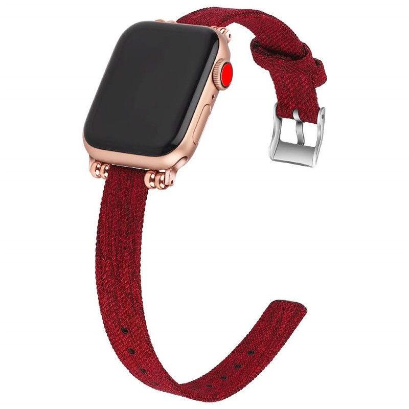สายนาฬิกาข้อมือผ้าแคนวาสสําหรับ Applewatch 6 / 5 / 4se