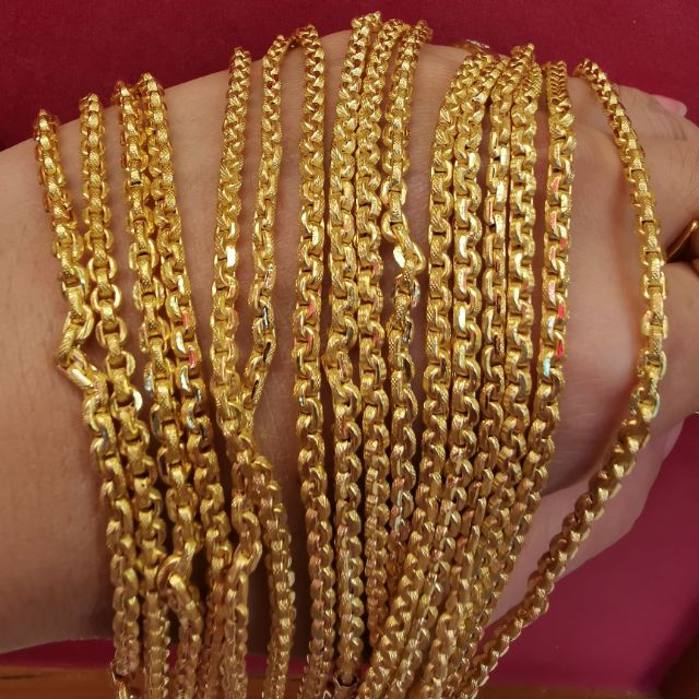สร้อยคอทอง 96.5%  น้ำหนัก 2 สลึง ยาว 25-30cm  ราคา 14,900บาท