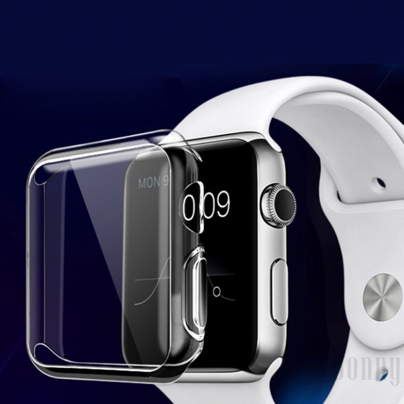 Bonny iWatch 4044MM Apple Watch Series 4 Clear TPU Case Full Cover Protector+Not Screen Full Plastic Glass protector