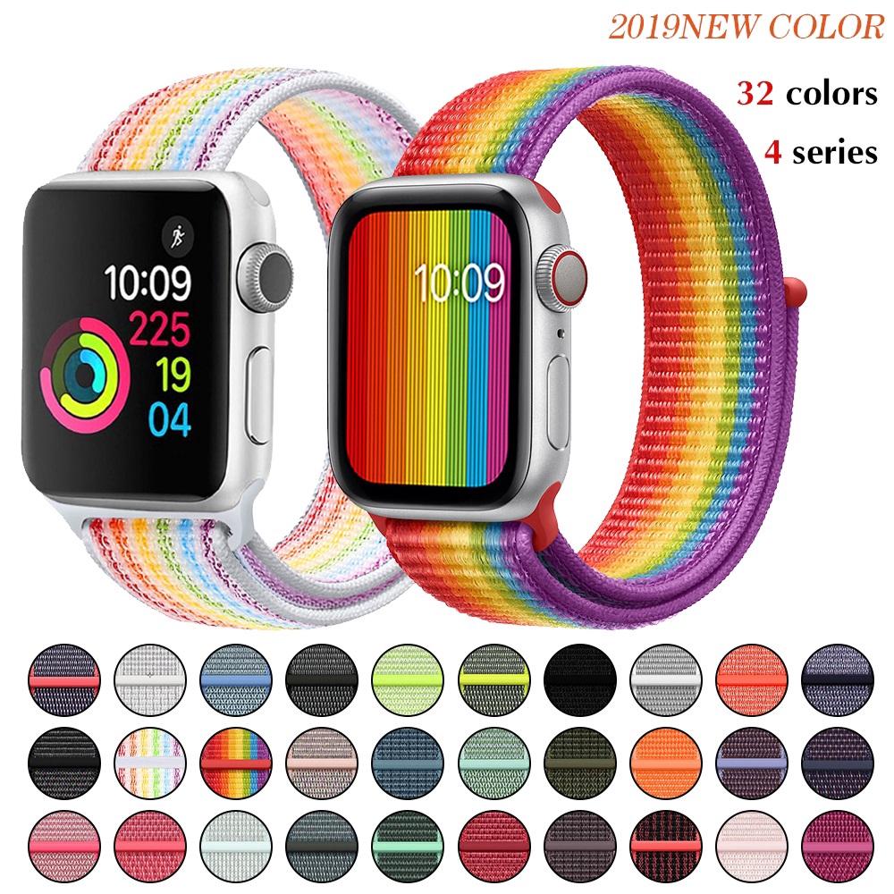 Sport Loop Soft สำหรับ Iwatch Series 4/5/3/2/1 ระบายอากาศเปลี่ยนสายนาฬิกาสำหรับ Apple Watch Band 38/40/42/44mm