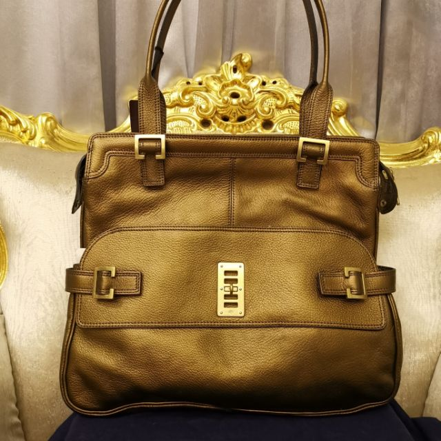 MULBERRY MAGGIE BRONZE GOAT LEATHER BAG