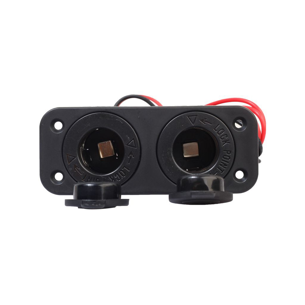 Waterproof Motorcycle Car Accessory Lighter Socket 12 Volt Power Outlet Panel