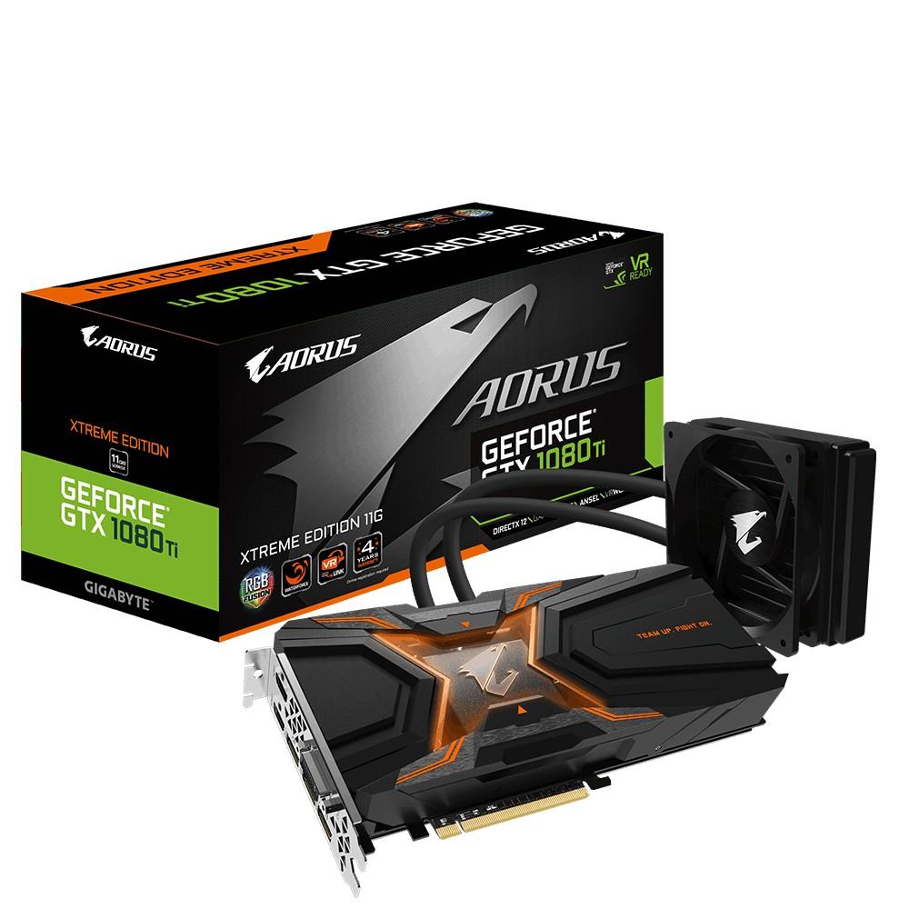 New Gigabyte AORUS GeForce GTX 1080Ti Waterforce Xtreme 11GB GDDR5X PCI-E Video Card ใหม่ หายากมาก **โปรดสอบถามก่อนซื้อ