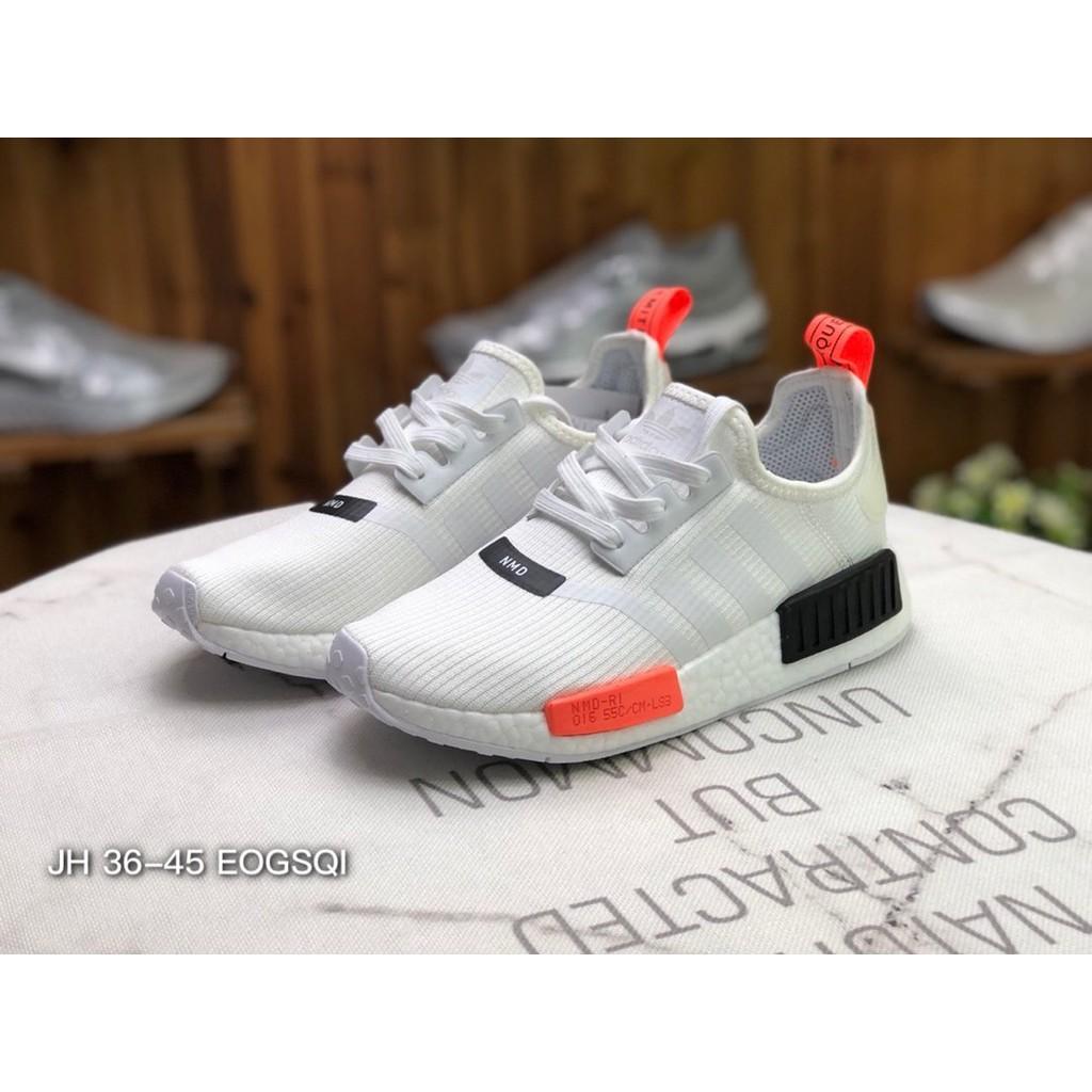 Adidas NMD R1 GTX สีขาวสีดำสีแดงรองเท้าวิ่ง TS1901