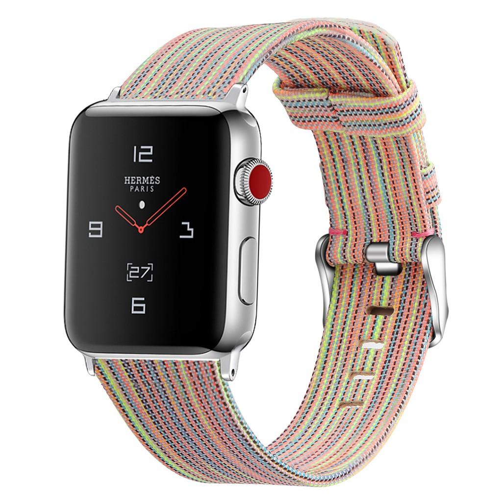 สายนาฬิกา Apple Watch สาย Premium Canvas applewatch Series 1/2/3/4/5/6, Apple Watch SE iwatch สายนาฬิกาข้อมือ size 38mm