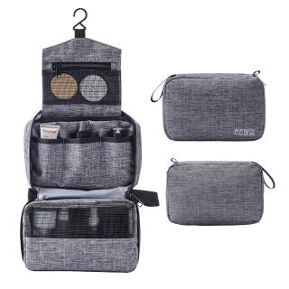 Portable High Capacity Cosmetic Storage Bag Multifunction Hanging Organizer Travel Toiletry Bag With Hook