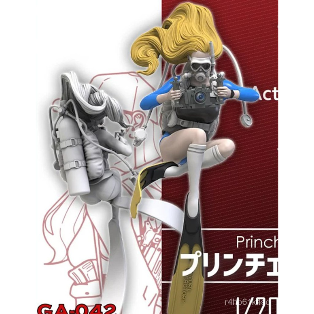 Resin Figure Kit 1/20 Female Diver Unainted Garage Kit#¥%¥# 5Sx3