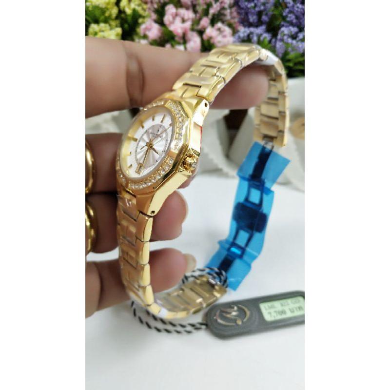 นาฬิกาข้อมือสุภาพสตรี หลุยส์มอเรส์ Louis Morais แบรนด์แท้ ของแท้ 100% รุ่น LML822GD รับประกันศูนย์ 2 ปี อุปกรณ์ครบ