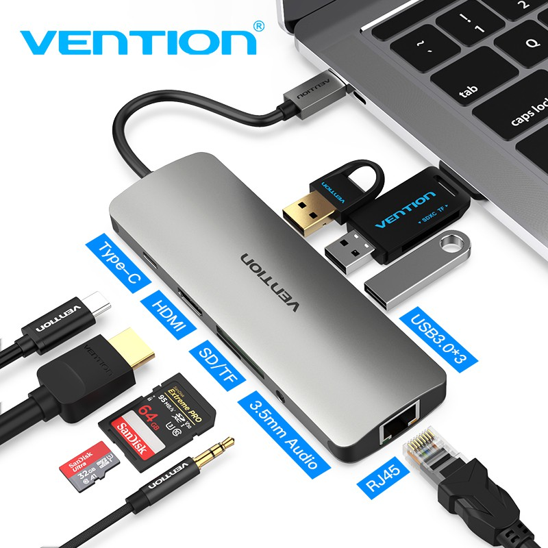 USB 3.1 Type-C USB-C USB C SD//Micro SD//TF//SDHC//SDXC//UHS-I Card Reader Adapter