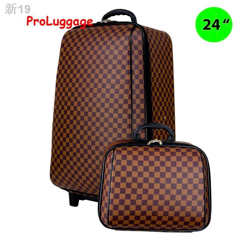 ☾MZ Polo กระเป๋าเดินทาง ล้อลาก ระบบรหัสล๊อค 4 ล้อคู่หลัง เซ็ทคู่ 24นิ้ว/14 นิ้วรุ่น New luxury