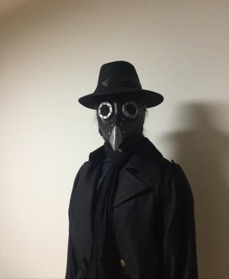 อบไอน้ำพังก์ยุคกลางโรคระบาดหน้ากากป้องกันcosแพทย์อีกาหน้ากากยาวจะงอยปากหน้ากากหมวก B1W3