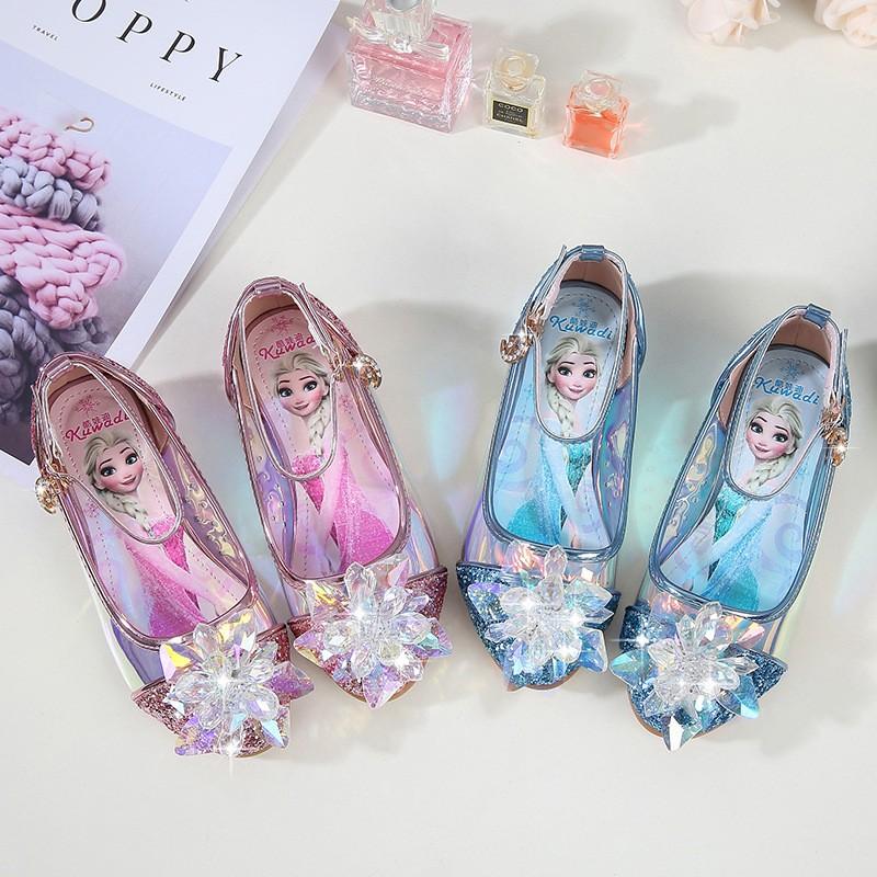 รองเท้าคัชชู พิมพ์ลายการ์ตูน สำหรับเด็กผู้หญิง