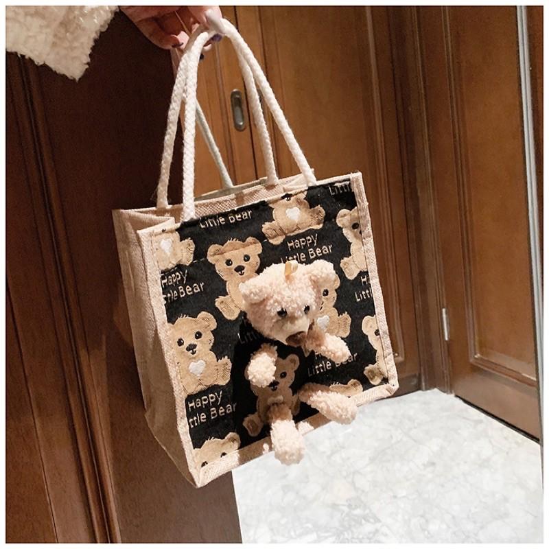 มี 2รุ่น นะจ๊ะ?กระเป๋าถือ ลายการ์ตูน น้องหมี มาใหม่ สุดฮิต H-053