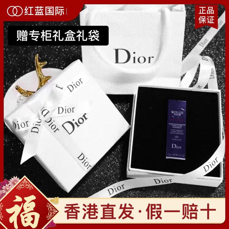 ลิปสติก Dior✢◎◘[Hong Kong straight hair] Dior Dior 999 lipstick matte moisturizing 080 740 888 520 กล่องของขวัญแบรนด์ใหญ