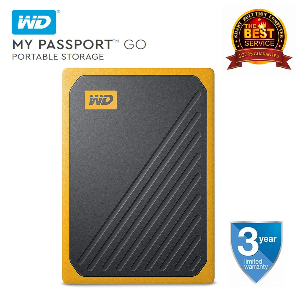 USB 3.0 WD 1TB My Passport Go SSD Cobalt Portable External Storage WDBMCG0010BBT-WESN