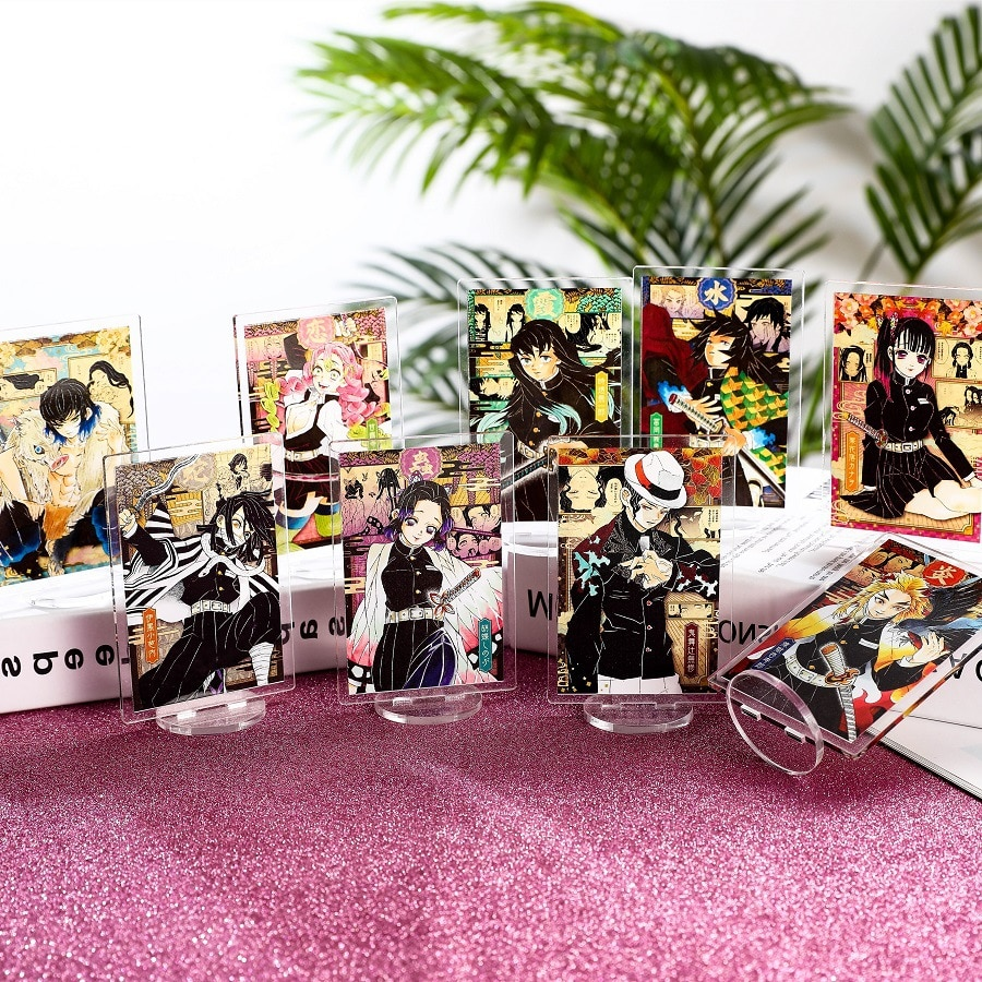 Anime Demon Slayer Kimetsu no Yaiba Kamado Tanjirou Kamado Nezuko Acrylic Stand Figure Model Desk Decor Toy Gifts