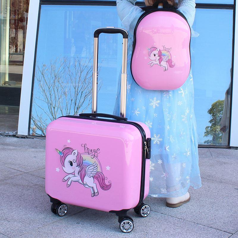 ❂รถเข็นสามารถนั่งบนชุดสูทของเด็ก กระเป๋าเดินทางใบเล็ก กระเป๋าเดินทางใบเล็ก เด็กน่ารักของนักเรียน และกระเป๋าการ์ตูนรหัสผ่