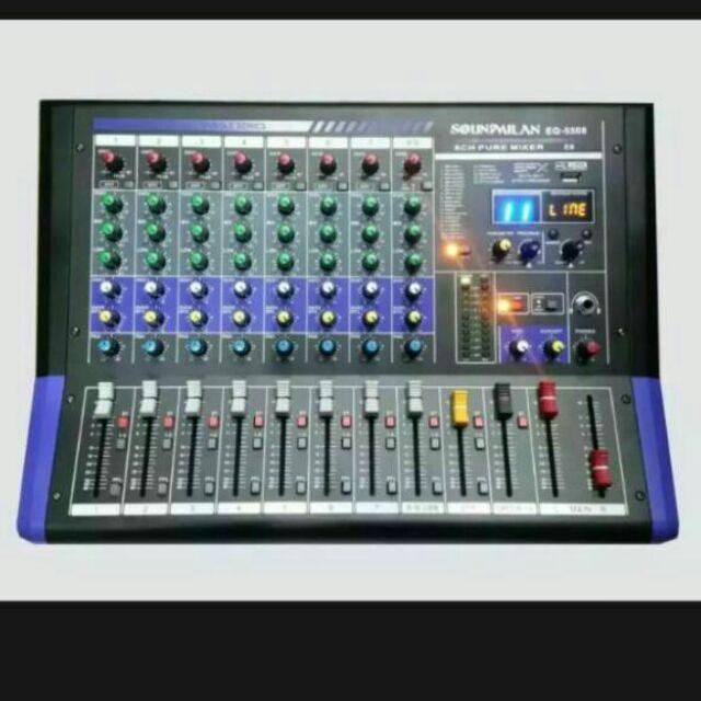 soundmilan EQ-5508 E8  เป็น MIXER 8CH ปรับแต่งเสียง