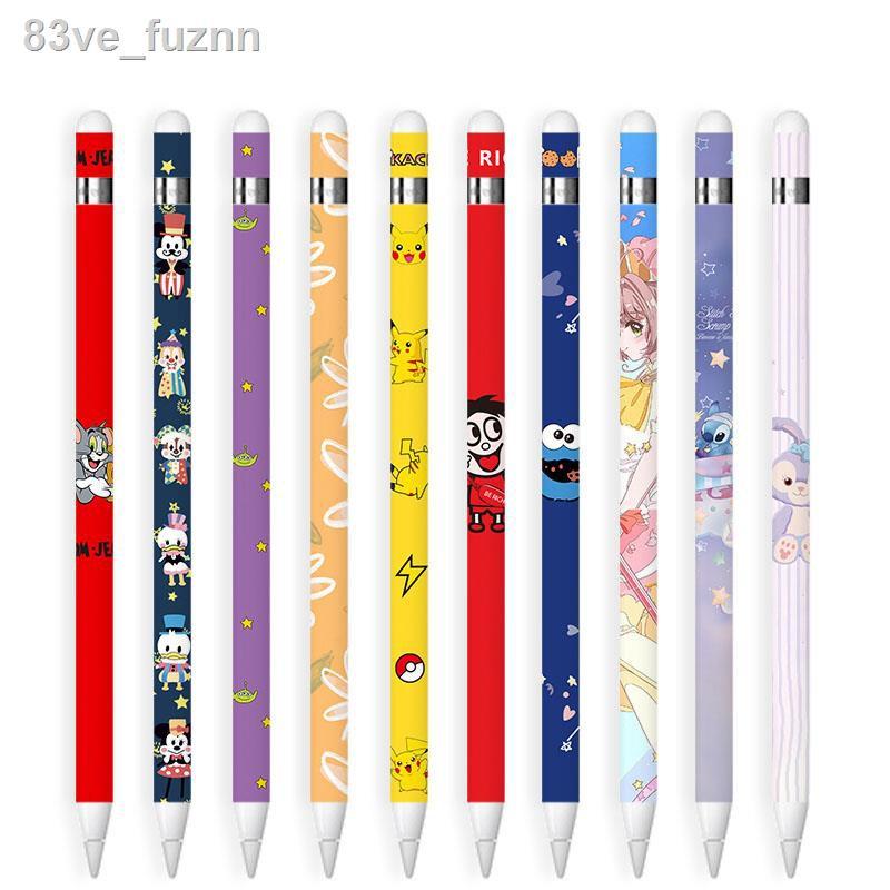 🌷สินค้าคุณภาพดีราคาถูก🌷☽■For Apple Pencil 1 Case iPad Anti-slip Colorful Cover Pen Set Cute Fashion Sticker