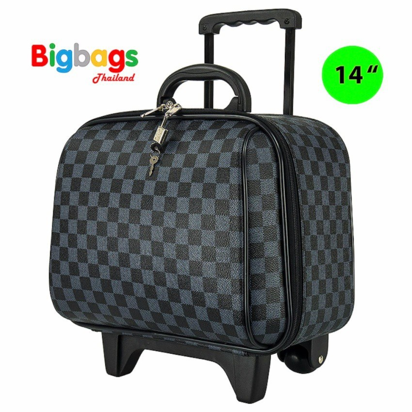 ilu☊Polo กระเป๋าเดินทางล้อลาก 14 นิ้ว รุ่น 92214 (Grey Black)