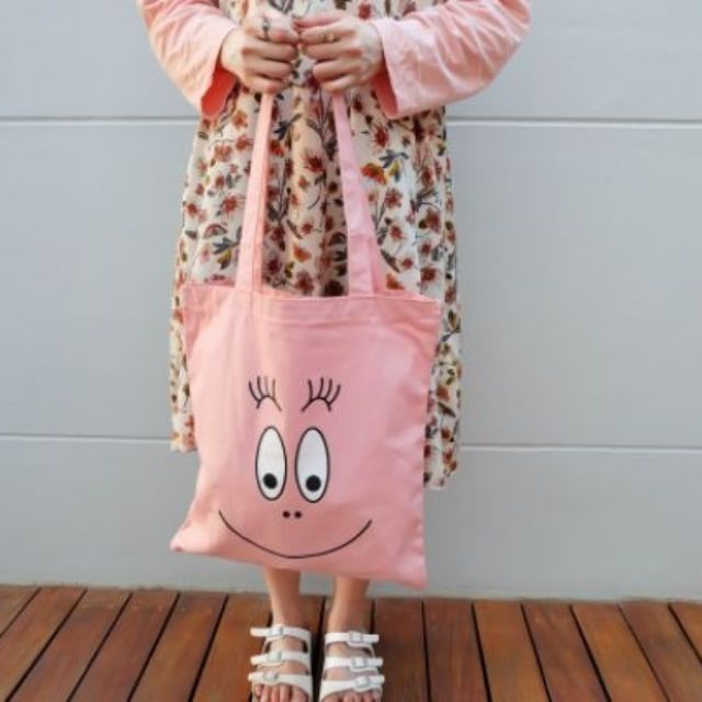 barbapapa tote bag