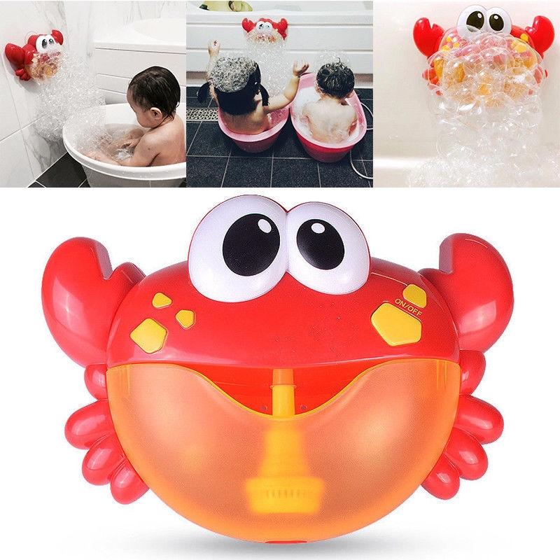 Crab Bubble Machine Musical Bubble Maker Bath Baby Toy Bath Shower Fun