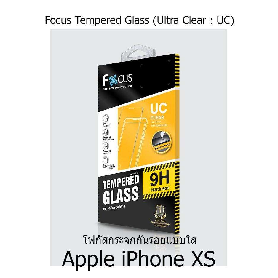 Apple iPhone X / Xs Focus Tempered Glass Ultra Clear (UC) ฟิล์มกระจกกันรอย แบบใส โฟกัส (ของแท้ 100%)
