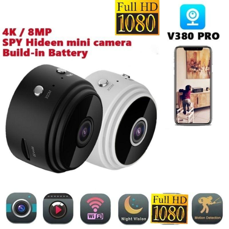 กล้องจิ๋ว  แอบถ่าย ชัดแจ๋ว มีแบตในตัว รุ่นA9 V380PRO Full HD ดูผ่านมือถือได้  (พร้อมส่งค่ะ)