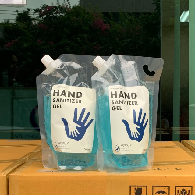 ✨เจลล้างมือฆ่าเชื้อโรค แอลกอฮอล์ 70% Phutawan Hand Sanitizer Gel หอมนุ่มมือไม่แห้งกร้าน