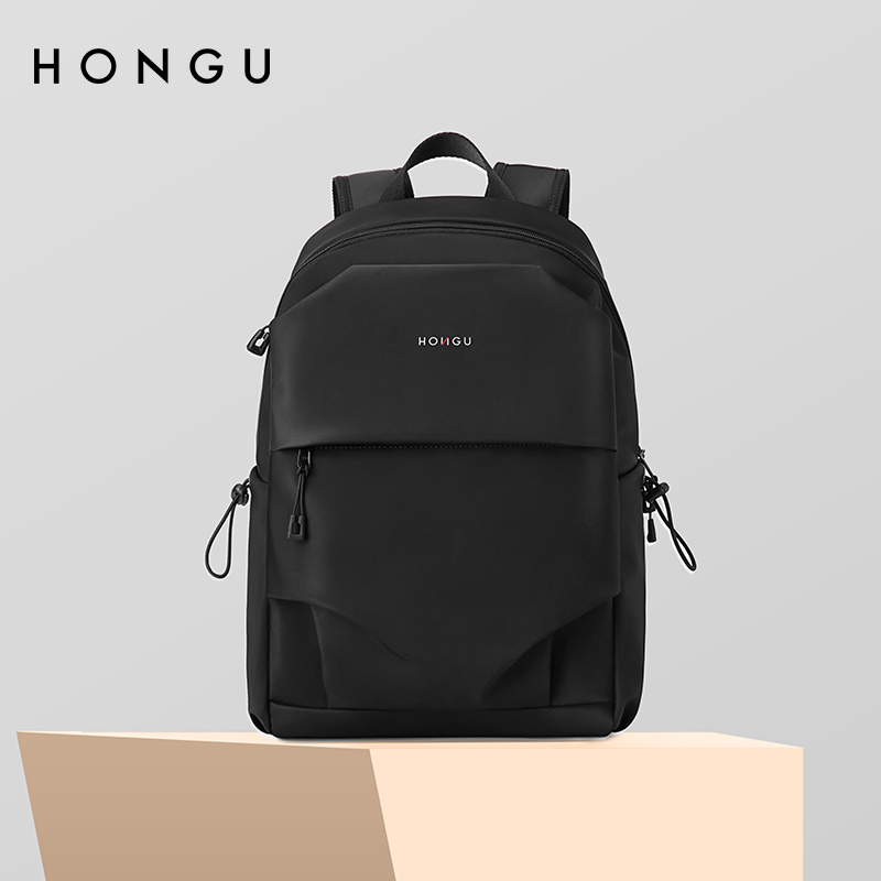 HONGU/หุบเขาสีแดงสบายๆกระเป๋าเป้สะพายหลังความจุขนาดใหญ่14กระเป๋าคอมพิวเตอร์นิ้วเดินทางกระเป๋าเป้สะพายหลังที่เรียบง่ายและ
