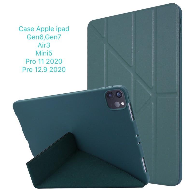 เคสฝาพับจีบ case ipad Pro 11 นิ้ว 2020, case ipad 10.2นิ้ว Gen7,Gen8 สีพาสเทล ใส่ปากกาได้ (พร้อมส่ง)