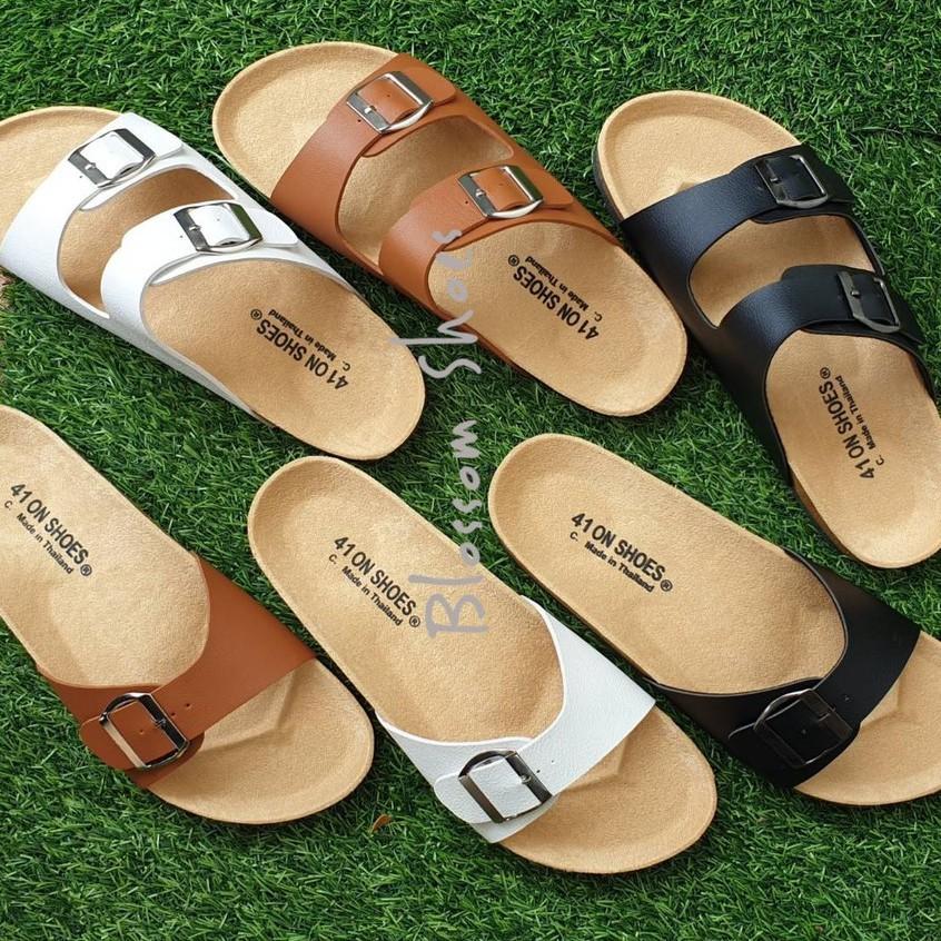 🌻💋📣◘▬✷ไซส์ใหญ่ 41-43 รองเท้าแตะ ฺBikenStock 1Step /2step  สายปรับระดับได้