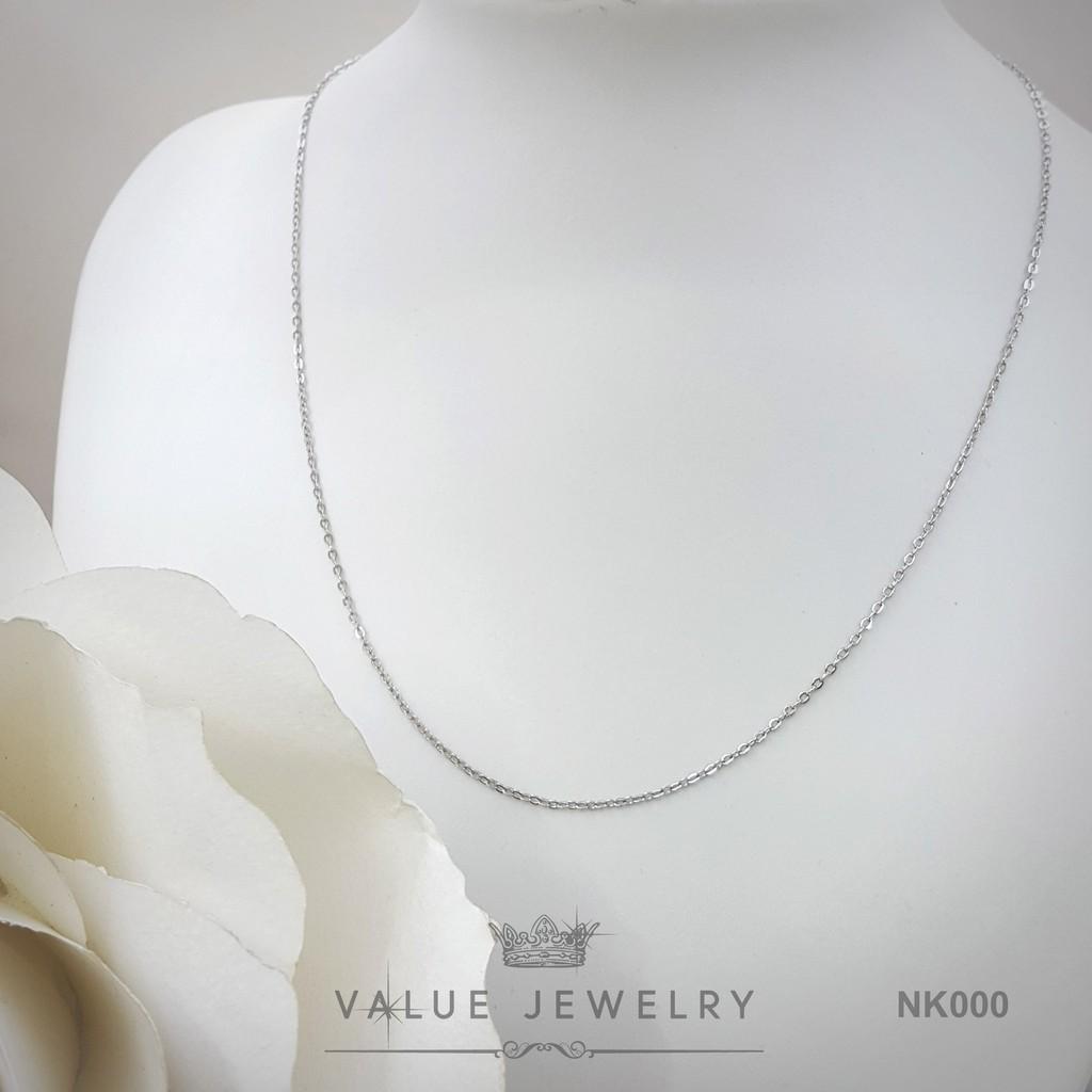 สร้อย ชุบทองคำขาว รุ่น AC002 Value Jewelry ยาว45cm 18นิ้ว ไม่ลอก ไม่ดำ ดารา ราคาส่ง ขายดี คริสตัล เพชร แบรนด์เนม ของขวัญ