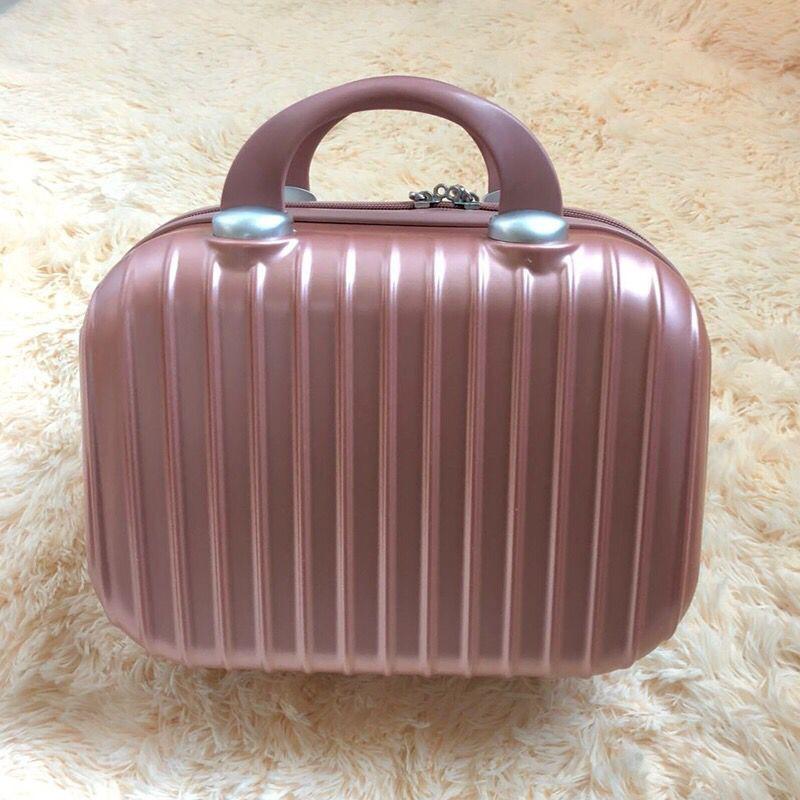 ♀มินิกระเป๋าเดินทางกระเป๋าเดินทางใบเล็กกระเป๋าเดินทางหญิงขนาดเล็ก 14 นิ้วกระเป๋าเครื่องสำอาง กระเป๋าเก็บความจุขนาดใหญ่