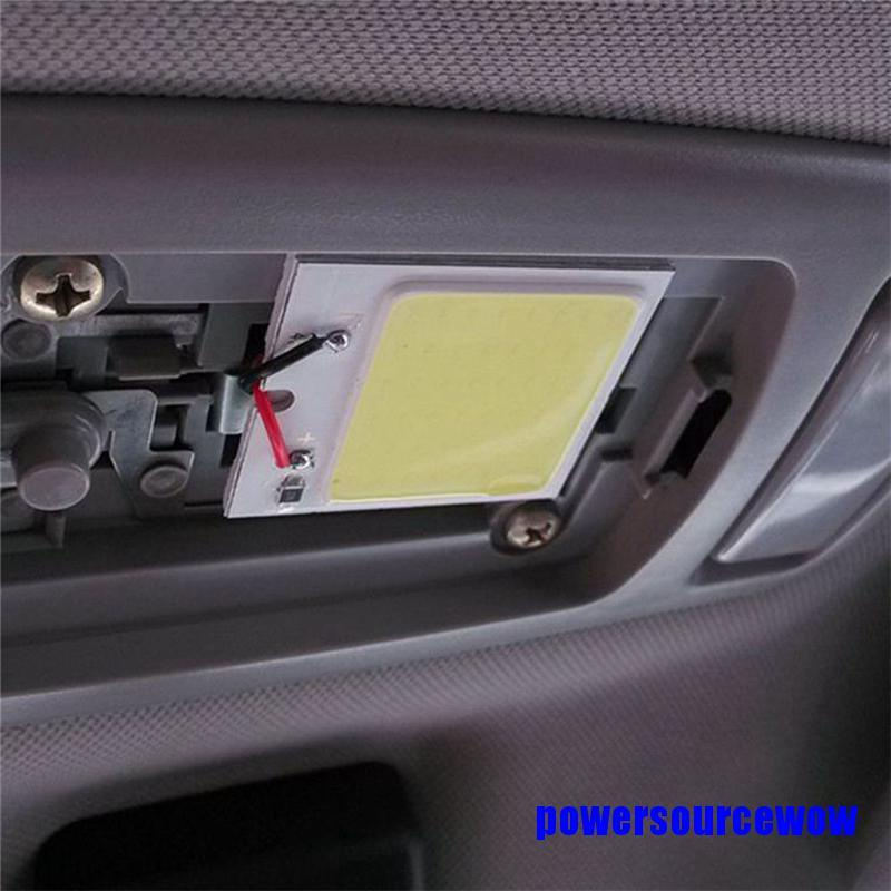 [Cod] 48 Smd Cob Led T10 4W 12V แผงหลอดไฟโคมไฟติดภายในรถยนต์ #