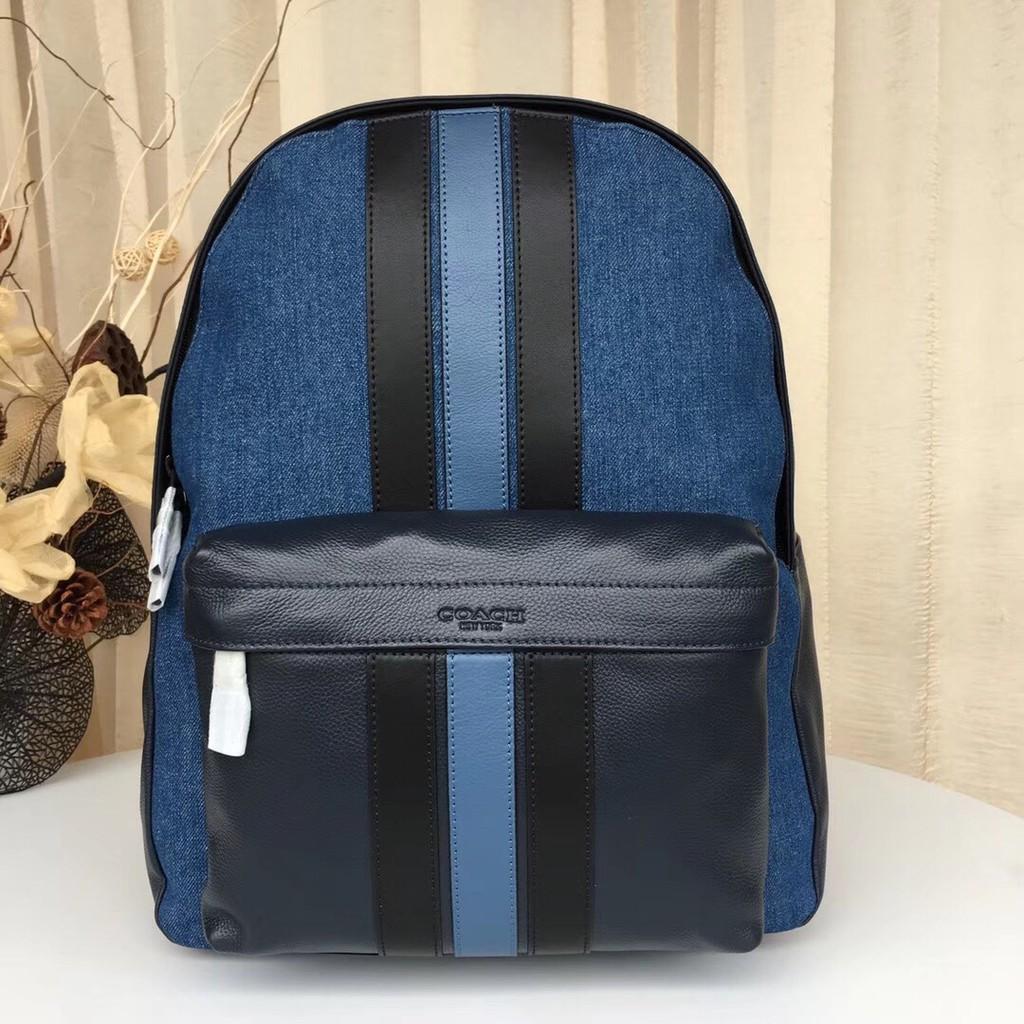 New genuine COACH 23218 ผ้ายีนส์รุ่นใหม่ของยุโรปและอเมริกัน COACH พร้อมกระเป๋าเป้สะพายหลังสี