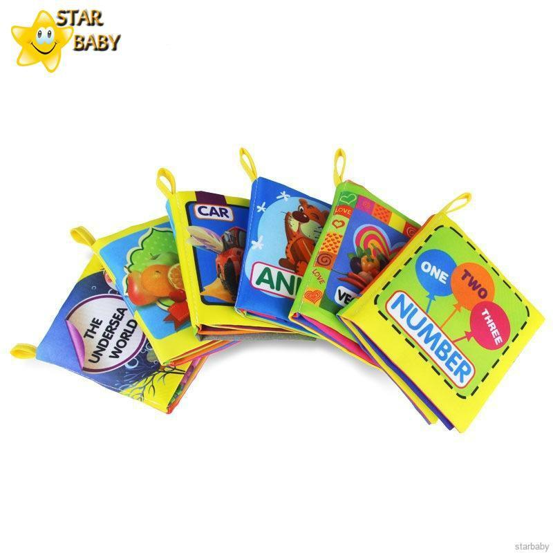 Infant Lovely Cloth Book Cartoon Animal Pattern Soft Teethers Books Educational Learning Toys