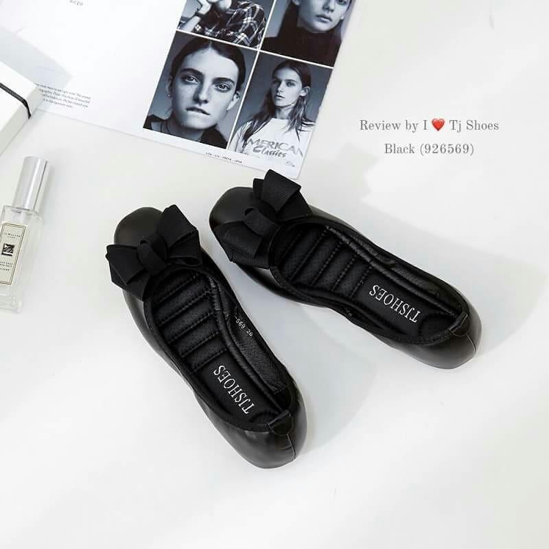 Shoess.shop รองเท้าแฟชั่นผู้หญิง คัชชูเพื่อสุขภาพ 926569 สีดำ