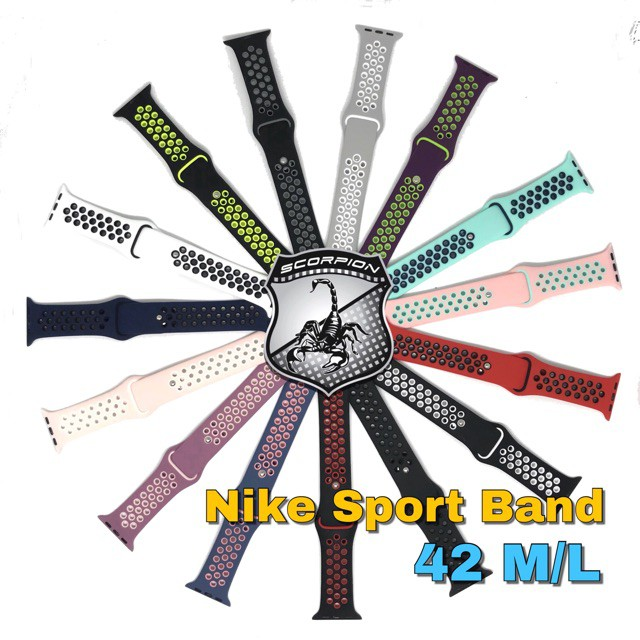 🔥พร้อมส่ง🔥 สาย Apple Watch 42ML Nike Sport Band for Series 1,2,3,4,5