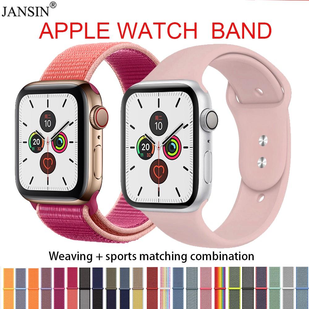 สายนาฬิกา สาย applewatch for Apple Watch 6 se 5 Band Woven Nylon Loop iwatch 40 มม. 44 มม 42 มม. 38 มม.Series 5 4 3 2 1