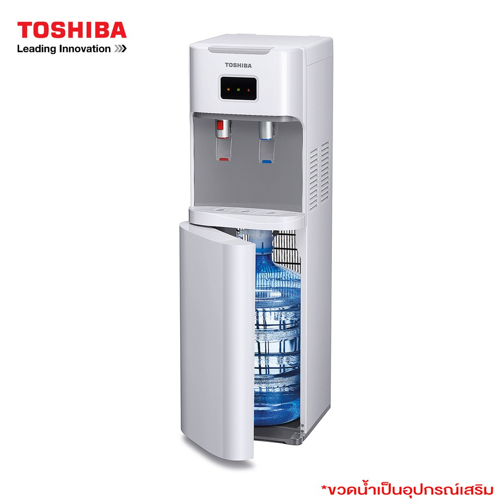 Toshiba เครื่องทำน้ำร้อนน้ำเย็น แบบบรรจุถังน้ำด้านล่าง รุ่น RWF-W1669BK(W) / สีขาว (ไม่มีขวดน้ำแถม)