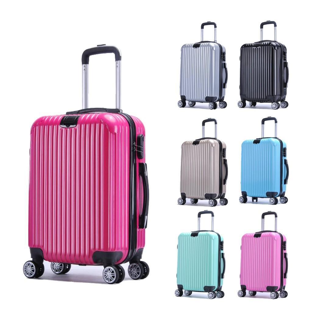 กระเป๋าเดินทางล้อลาก(V12)ขนาด 20 นิ้ว วัสดุพลาสติก ABS+โพลีคาร์บอเนต