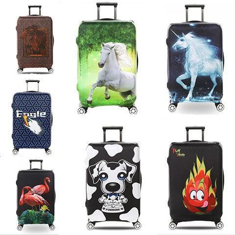 ผ้าคลุมกระเป๋าเดินทางผ้ายืด รถเข็นกระเป๋าเดินทาง 20/24/25/28/30 นิ้วหนาทนทานหนังกระเป๋าเดินทางยืดหยุ่นฝุ่น