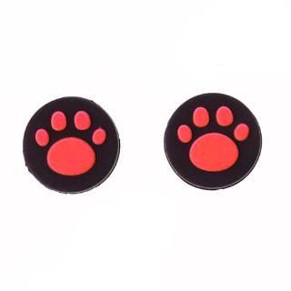 RR 2pcs Cat Paw Analog Controller Thumbstick Grip Cap Protective Cover For Sony PlayStation