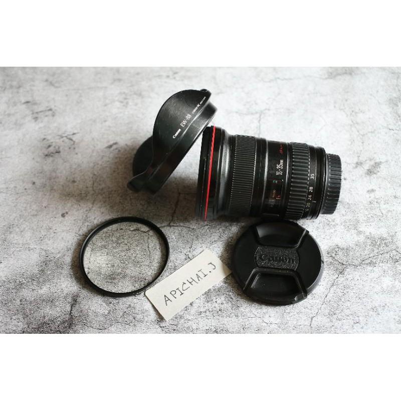 ขายเลนส์ Canon 16-35 f2.8 II แถมฟิลเตอร์หน้า 82mm